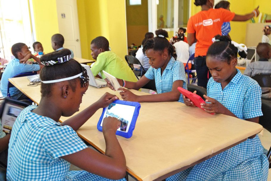 Students gets access to tech in Haiti