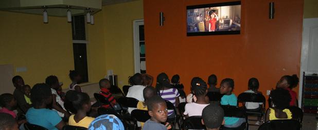 Movie-time-in-Haiti