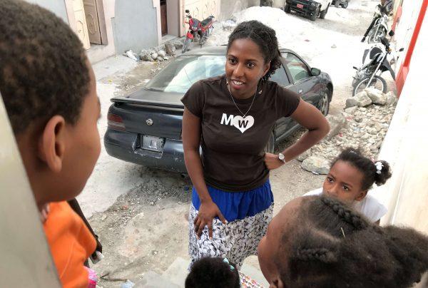 Ambassador Marli with kids in Haiti